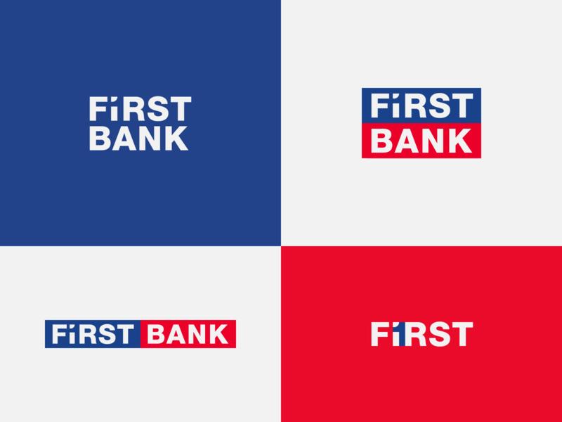First Bank - proposal brand identity identity branding identity design wordmark banking bank negative space logo logo designer logo design concept logo design branding logo concept logo design brand design logotype typography branding icon logo