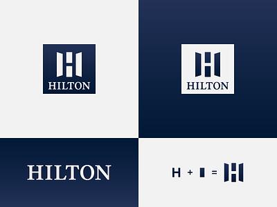 Hilton - proposal wordmark logo logo designer identity designer identity design logo concept resorts hospitality hotel branding negative space logo brand design logotype typography branding icon logo