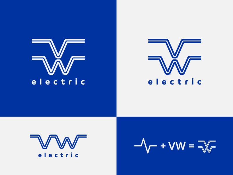VW electric - proposal electric car volkswagen brand identity logo design concept logo designer logo design identity designer identity design brand design logotype typography branding logo