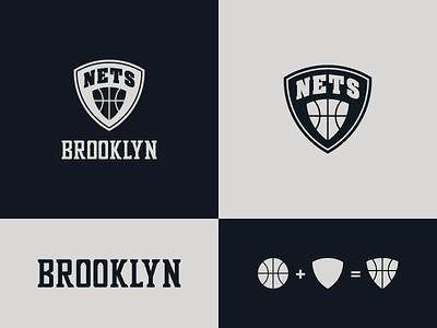 Brooklyn Nets  - proposal badge design badge logo mark wordmark identity designer brand identity identity design logo design concept logo designer logo design brooklyn ny basketball logo sports branding sports logo brand design logotype typography branding icon logo