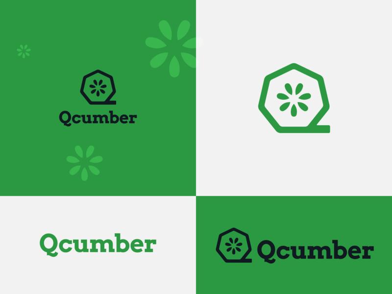 Qcumber - proposal brand designer identity designer identity design brand identity logo designer logo design concept logo design brand design logotype typography branding icon logo