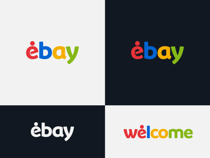 ebay - proposal logo maker identity designer identity design auctions online shop ebay wordmark brand design concept brand designer logo designer logo design concept logo design brand design logotype typography branding icon logo