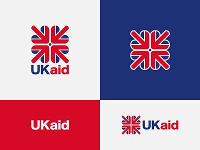 Ukaid - proposal uk aid logo mark brand development mark wordmark logo design concept logo designer brand designer brand design logotype typography branding icon logo
