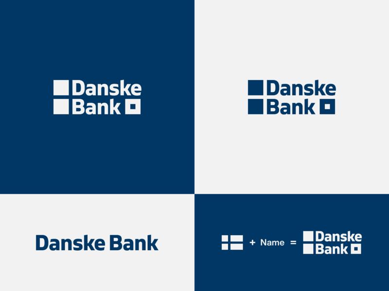 Danske Bank - proposal brand development flag logo identity designer identity branding danske bank negative space logo wordmark brand designer logo design concept logo designer brand design logotype typography branding icon logo