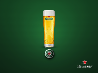 Heineken! designthinking visualisation semantic typography poster design heineken exclamation mark conceptual concept design beer glass bottle cap branding concept print ads billboard design beer branding beer advertising design advertising campaign advertising advertisement