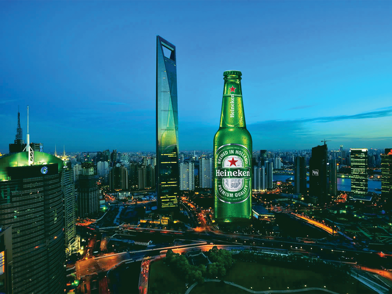 Heineken and the Bottle Opener advertise advertising campaign advertising design design thinking retouching photoshop advertising conceptual print ad building beer art beer bottle heineken advertisement