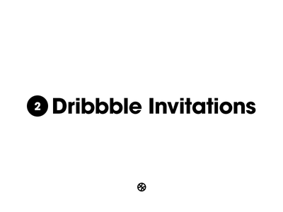 I have 2 dribble invitations dribbbleinvitations invitations invite