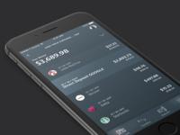 Dark UI + Banking