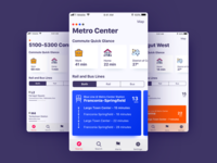 Public Transit Dashboard dashboard directions navigation washingtondc dc minimalism swiss design iphone mobile sketch flat transit