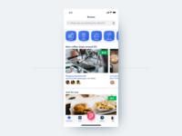 Foursquare local data ui flat search food sketch design iphonex ios foursquare