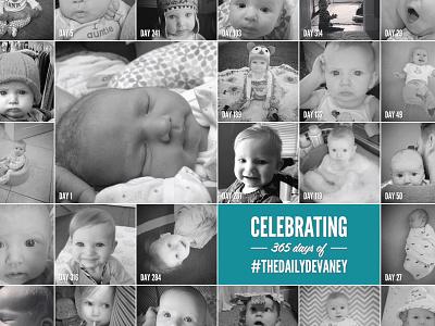 Devaney's First Birthday Invitation (back) birthday invitation baby photography