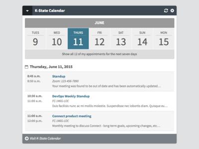 K-State Connect Calendar Widget calendar widget