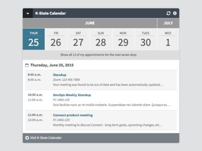 K-State Connect Calendar Widget, Take 2 calendar widget