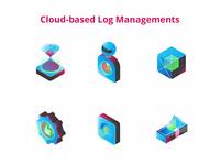 Illustrations of a cloud-based log managements