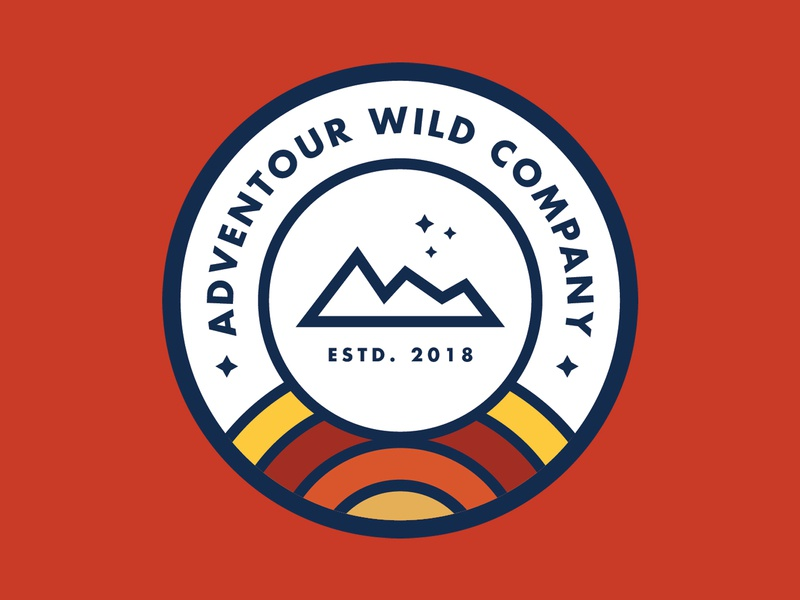 Adventour Wild Company hiking camping outdoor graphic design design mountain company adventure badge logo patch
