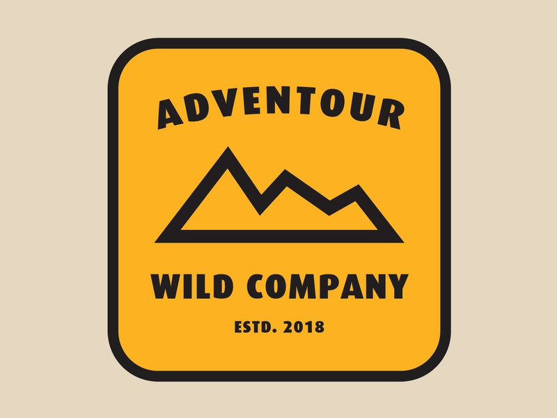 Adventour Wild Company alternative logo adventure badge patch logo