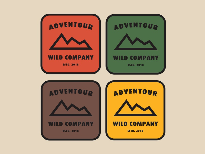 Adventour Wild Company Patch design graphic design travel outdoor adventure badge logo patch