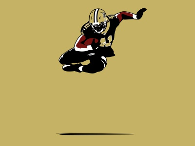 Alvin Kamara - AK41 new orleans no the saints who dat saints fantasy illustration fantasy sports fantasy football runningback rb nfl ak ak41 kamara alvin kamara