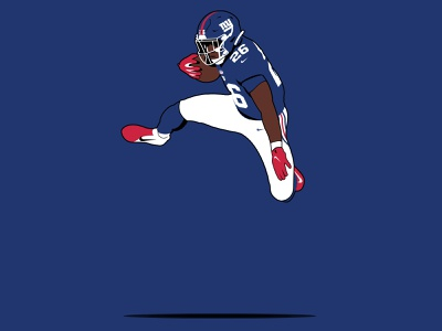 Saquon Barkley - SayQ sports logo sports icon sayq football giants sports illustration football sports rb runningback nfl giants new york nyg saquon barkley