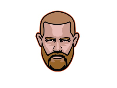 Conor McGregor graphic design lightweight featherweight mixed martial arts sport fighting double champ 2x champ champion fighting sports faceoff illustration ufc mma icon mma conor mcgregor