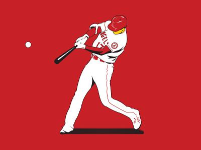 Shotime Ohtani showtime hitter dinger homer homerun majore league baseball major leagues illustration pitcher dh la angels angels baseball mlb shotime ohtani