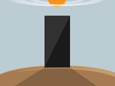 Monolith monolith illustration 2001 minimal