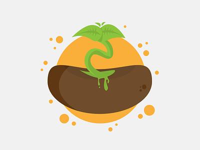 Life illustration life bean plant