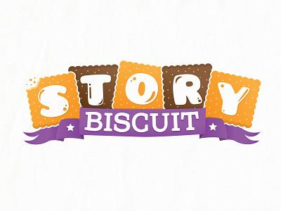 Story Biscuit Logo childrenbook illustration logo