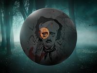 Edgar Allan Poe anniversary badge