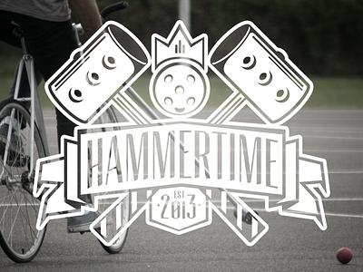 Hammertime logo concept logo bikepolo illustration