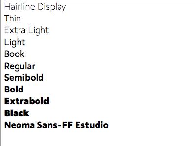 Neoma Sans Update