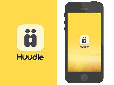 Huddle Mobile App icon splash login signup social yelllow app iphone ui ios huddle