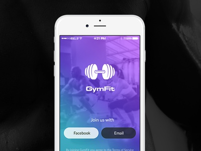 Fitness Mobile App ui iphone android mobile app design logo splash gym fitness health login
