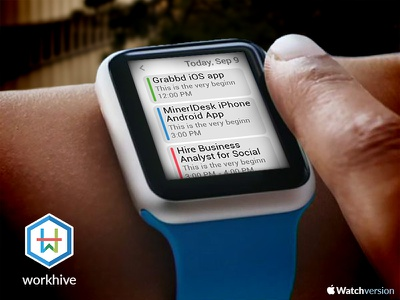 Workhive on iWatch  ui iphone android iwatch app design logo dashboard icon project management collaboration team mamagement