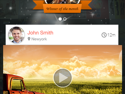 Screenshot - Social Contest App ui iphone mobile app design contest social winner feed comment like share