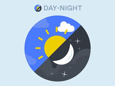 Day Night App Icon Design Concept android sun moon night day concept design icon app