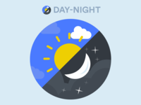 Day Night App Icon Design Concept