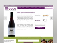 responsive wine retail site