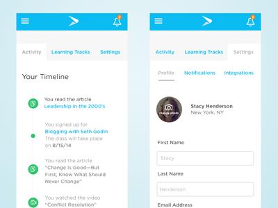 User Dashboard Mobile View user dashboard dashboard navigation users ui ux continu mobile