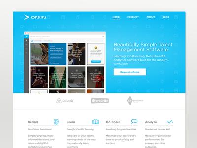 New Continu Website website design ui ux marketing icons typography
