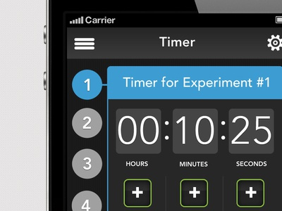 new scientists timer iPhone app