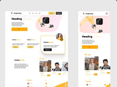 Landing page styling research ux webdesign landingpage