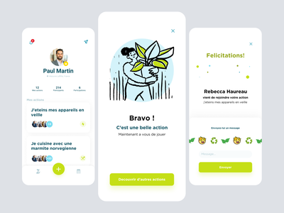 Plants maintenance App animation ux app ui design