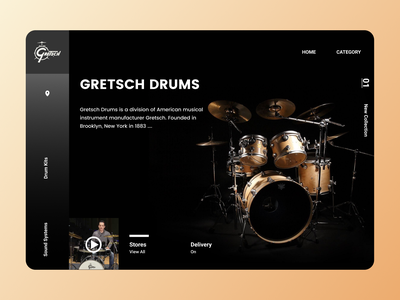 Musical instruments Web new year night online trend designs new art website web branding minimal ux ui design