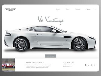 Online Cars Landing Page trend online designs branding new ux ui design