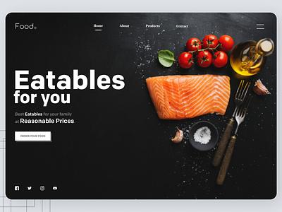 Fresh vegetables web design minimal web trend online designs branding new ux ui design