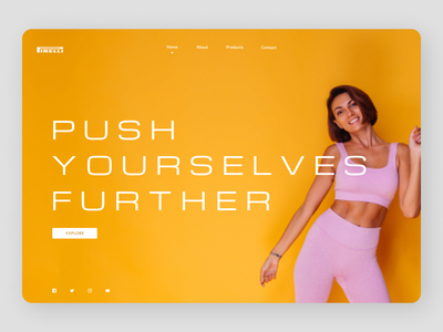 Fitness Trainer minimal web trend online designs branding new ux ui design