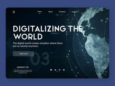 Digitalize Web Concept minimal trend web online designs branding new ux ui design