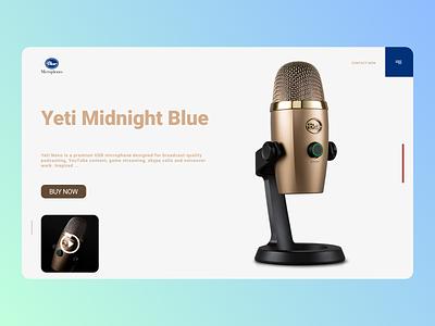 Bluetooth mics website minimal web trend online designs branding design new ux ui