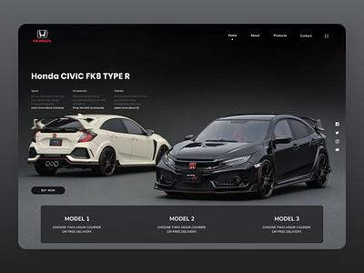 Cars Landing Page website web trend online designs branding new ux ui design